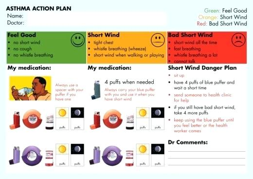 Asthma Action Plan Template Nsw
