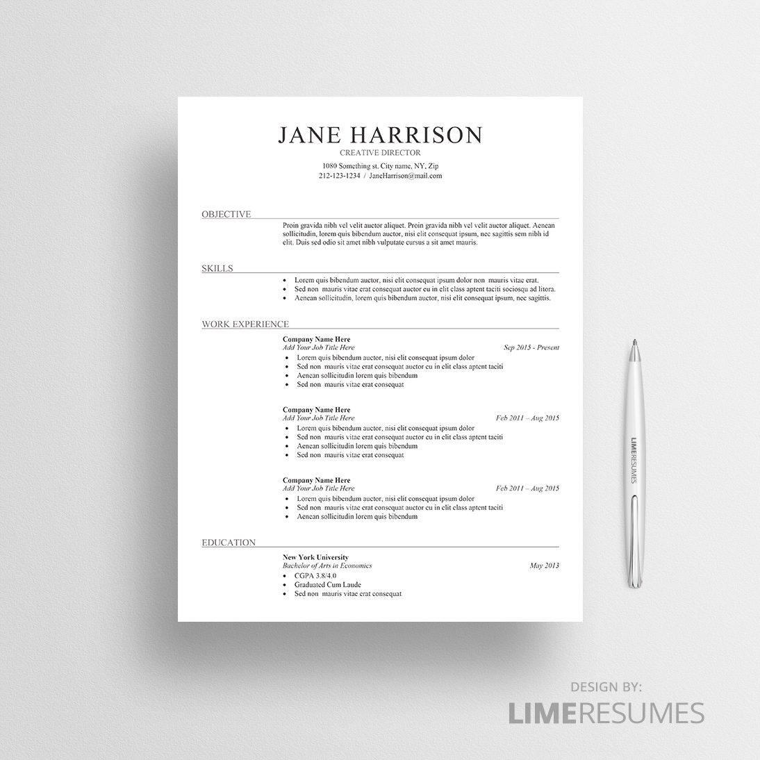 Ats Friendly Resume Template Free 2019