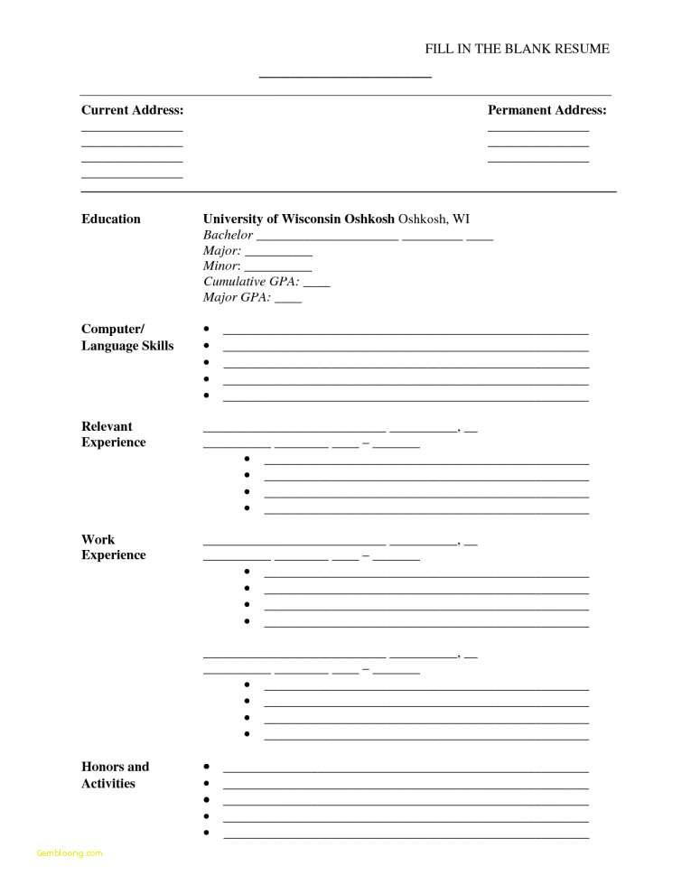 Ats Resume Template 2018