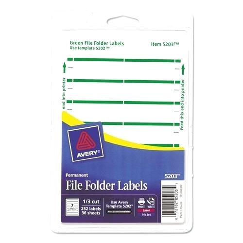 Avery File Folder Label Template 5366