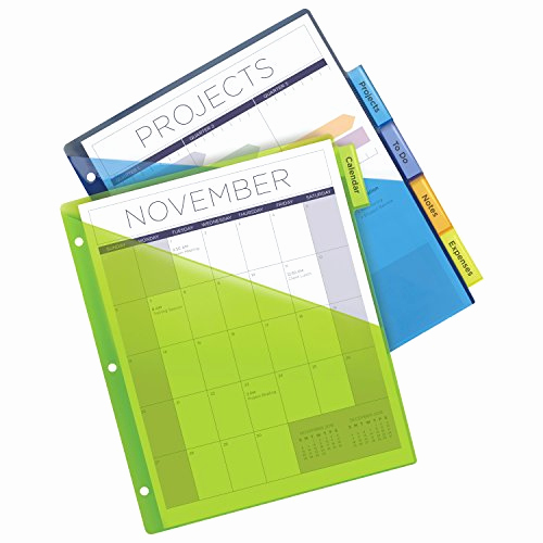 Avery Index Tabs With Printable Inserts Template Or Avery Big Tab Insertable Plastic Dividers With Pockets 5