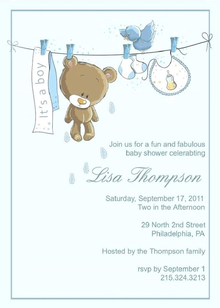 Baby Boy Shower Invites Templates