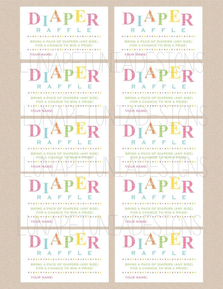 Baby Diaper Raffle Ticket Template