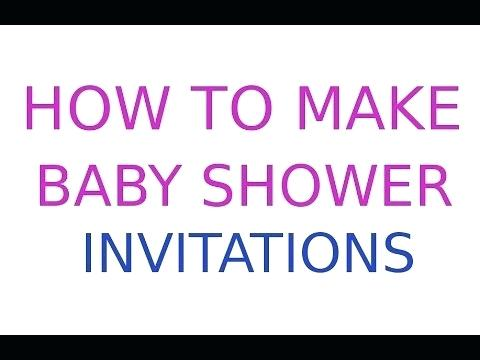 Baby Shower Invitation Cards Templates Free Download