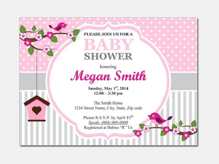 Baby Shower Invitations Templates Editable