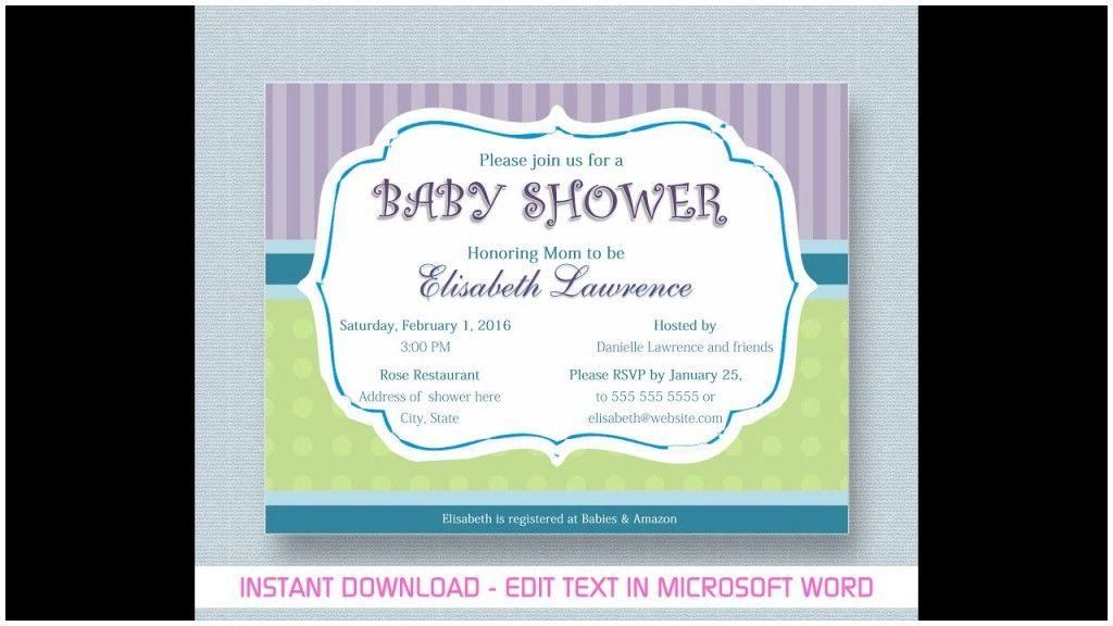 Baby Shower Invitations Templates Microsoft Word
