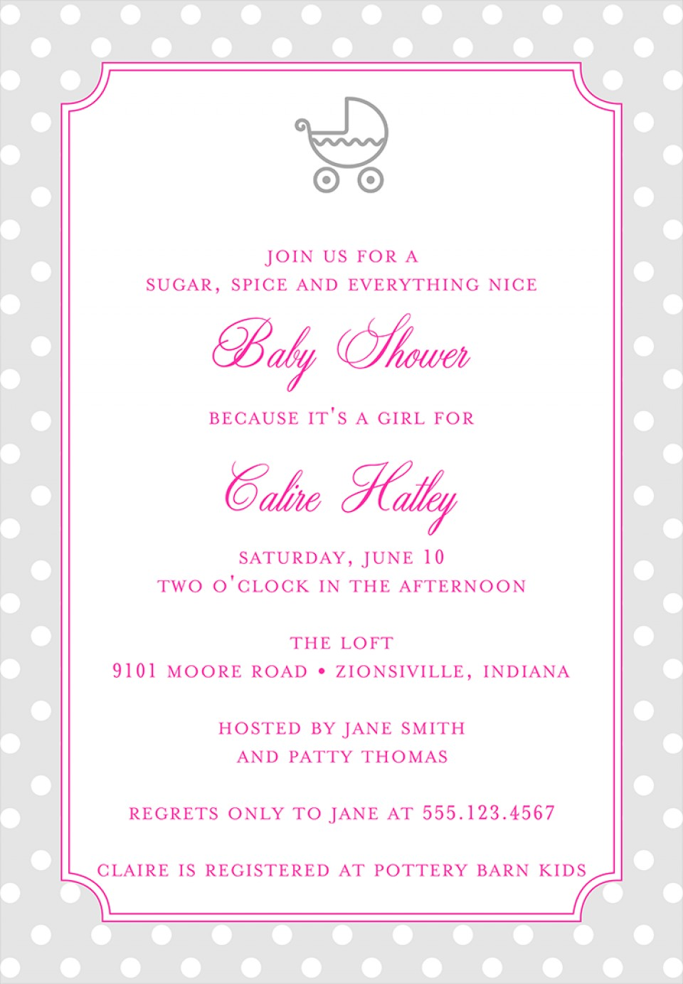 Baby Shower Invites Templates Download