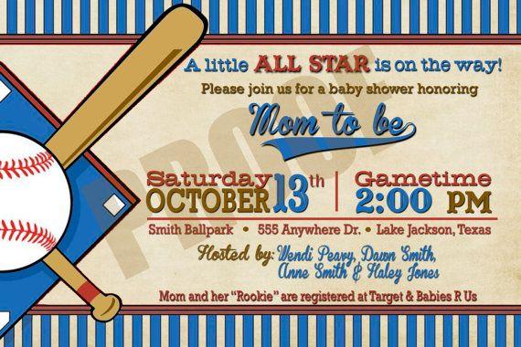Baseball Baby Shower Invitation Templates