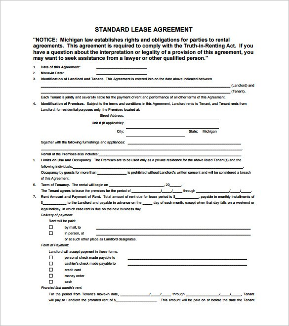 Beat Lease Contract Template