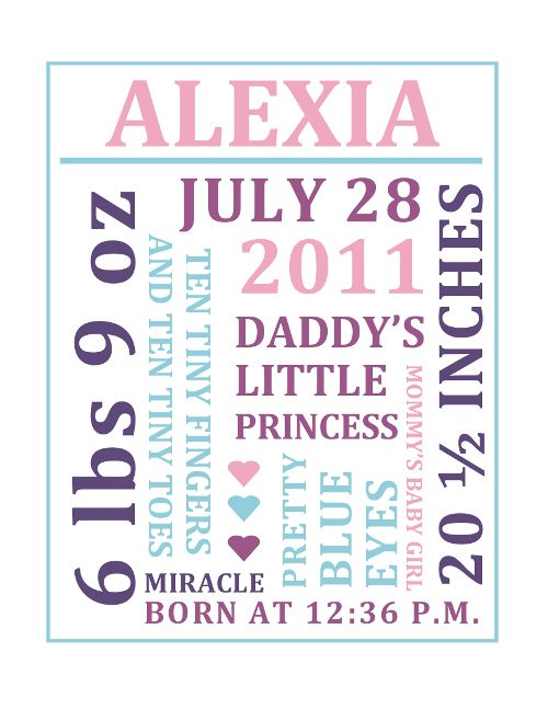 Birth Announcement Template Free Word