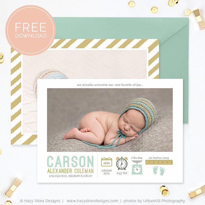 Birth Announcement Template Free