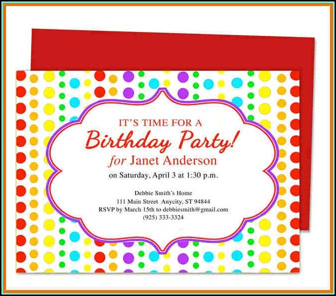 Birthday Invites Templates Word