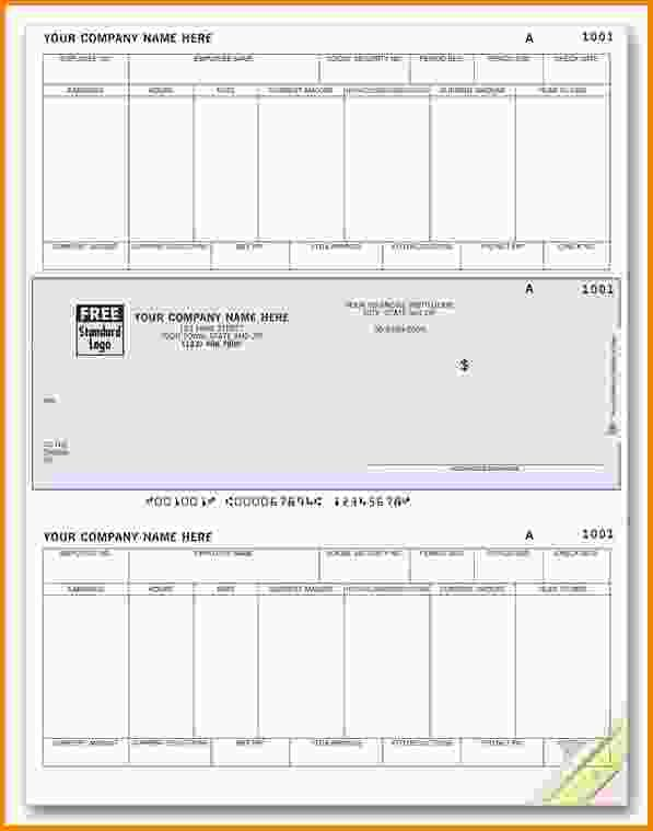 Blank Check Stubs Template