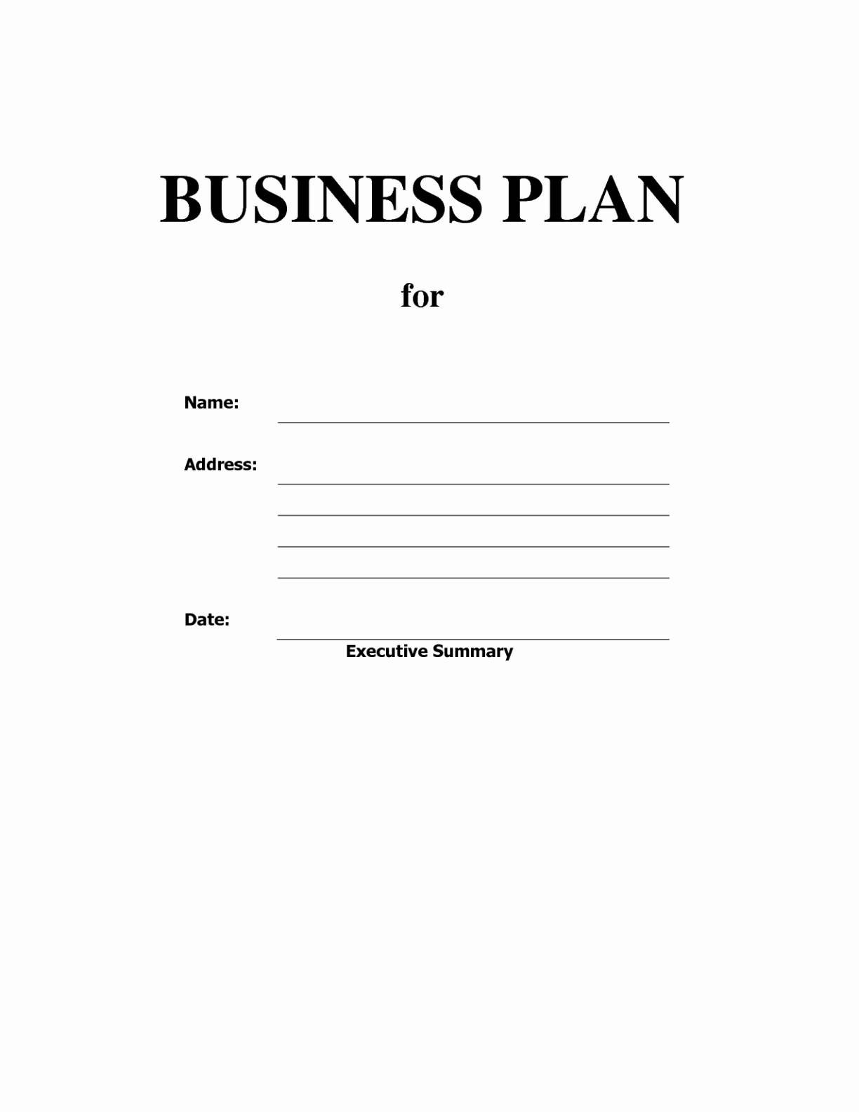 Blank Business Plan Template Sample Pdf Lovely Daycare Menu Template