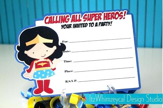 Blank Superhero Invitation Template Free