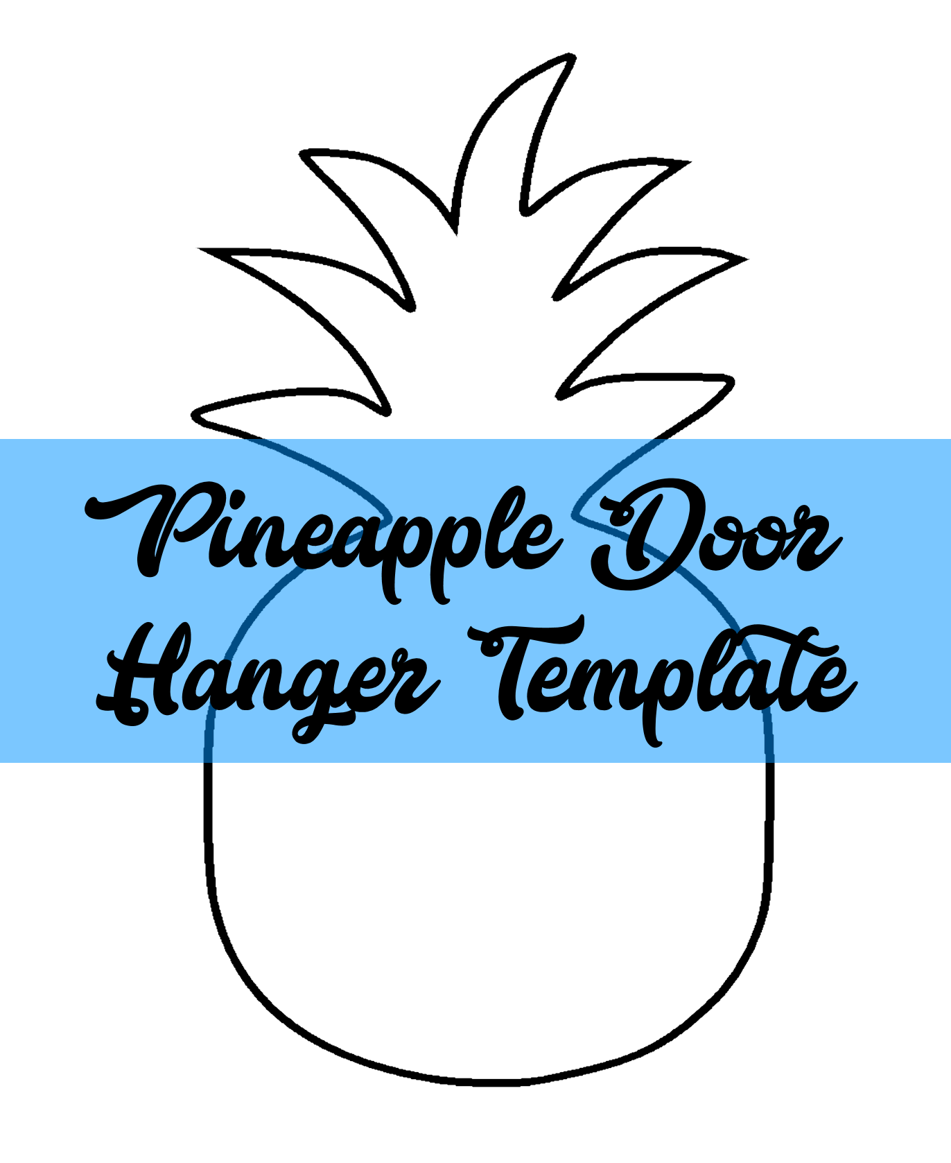Burlap Door Hanger Templates