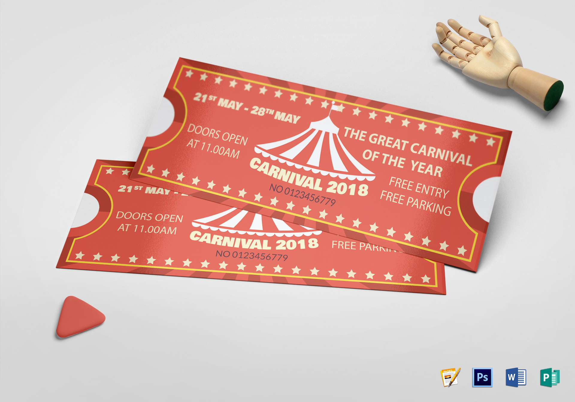 Carnival Ticket Template Word