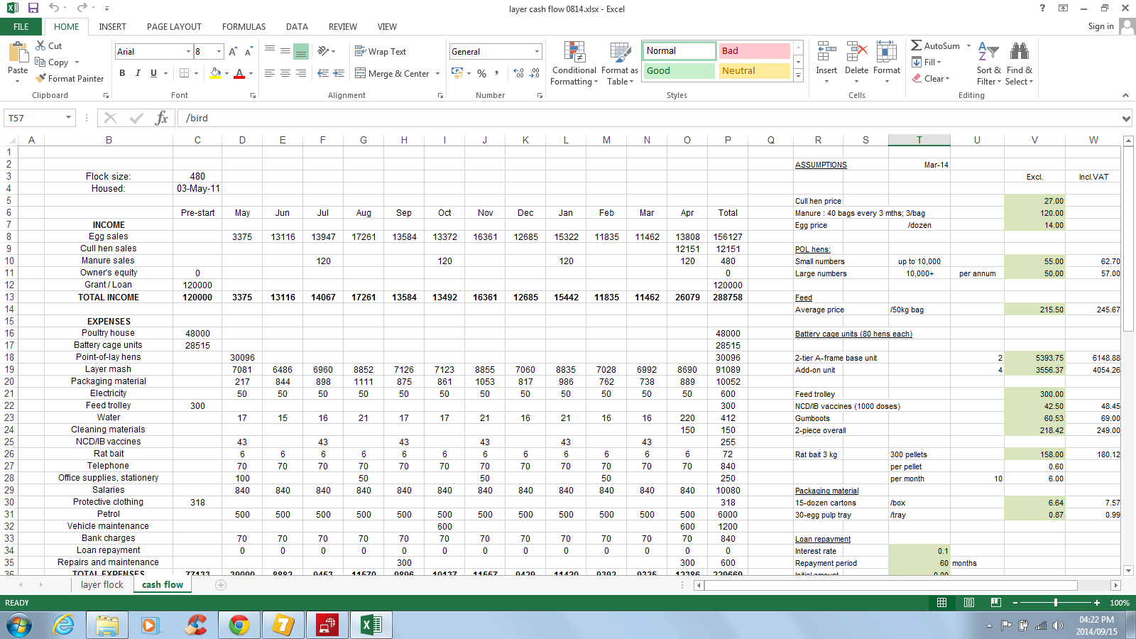 Cash Flow Forecast Template Nz