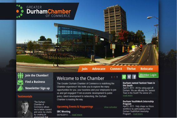 Chamber Of Commerce Website Template