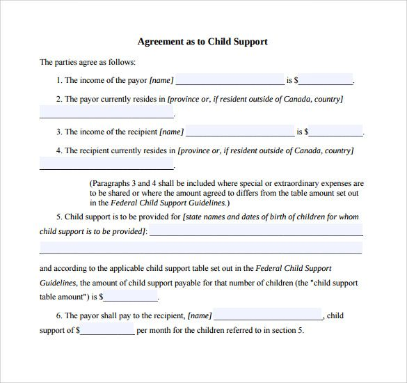 Child Custody Agreement Letter Template