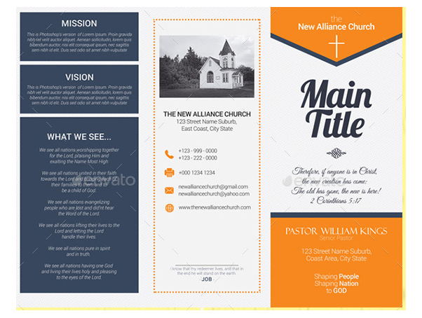 Church Brochure Templates Free Download