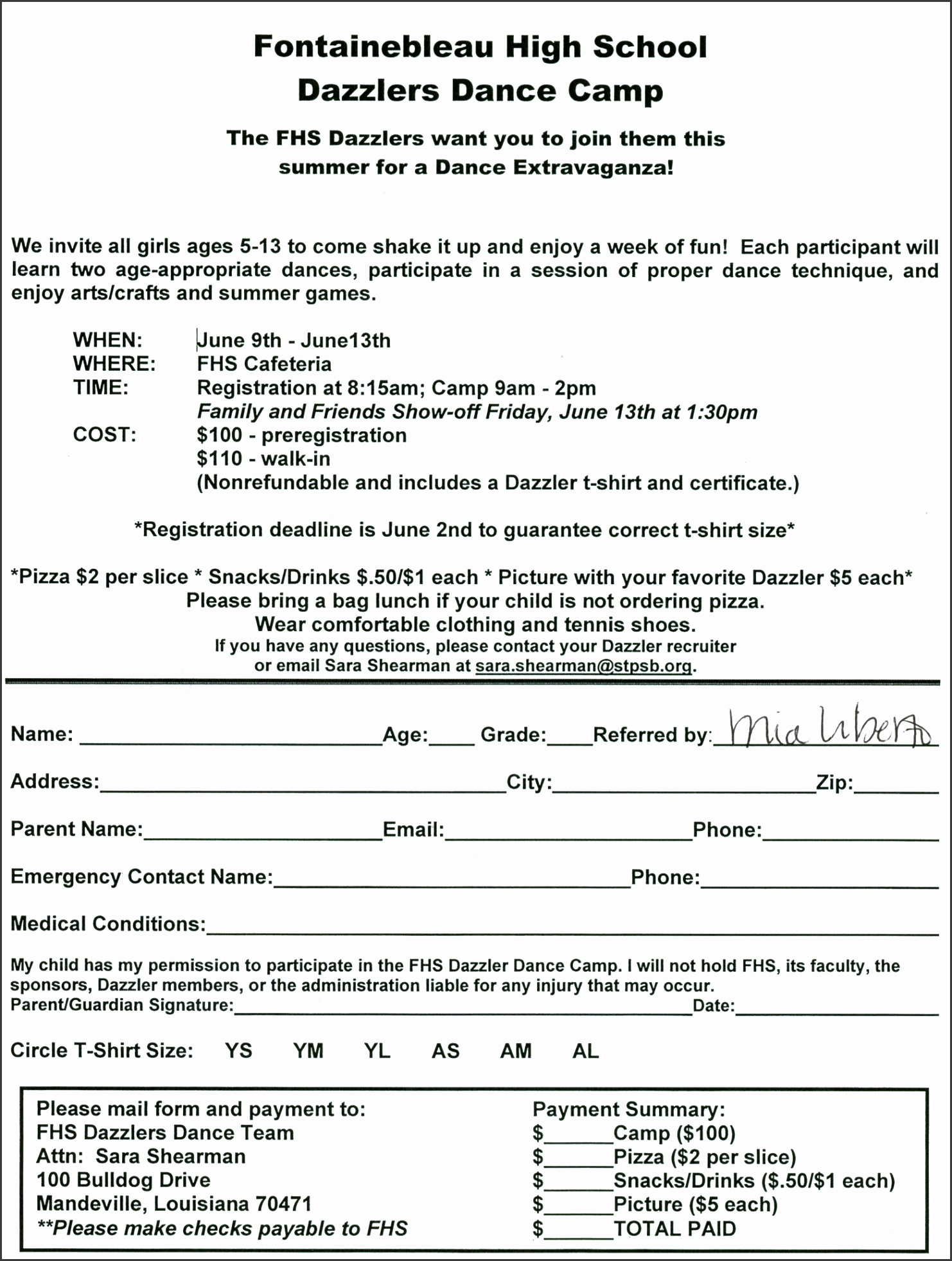 Church Camp Registration Form Template Uwtwx Best Of Summer Camps