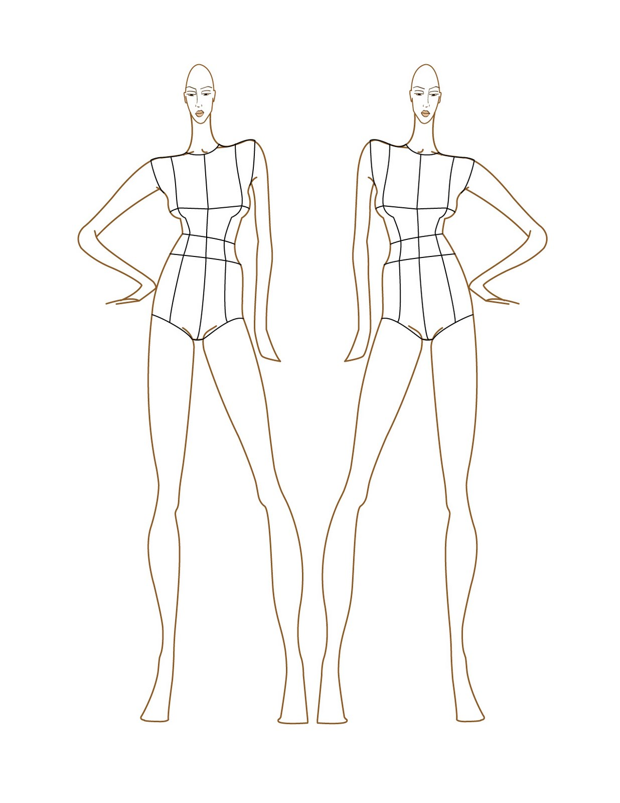Clothing Design Sketch Templates