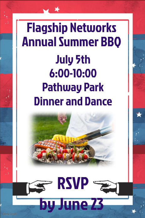 Company Bbq Invitation Template