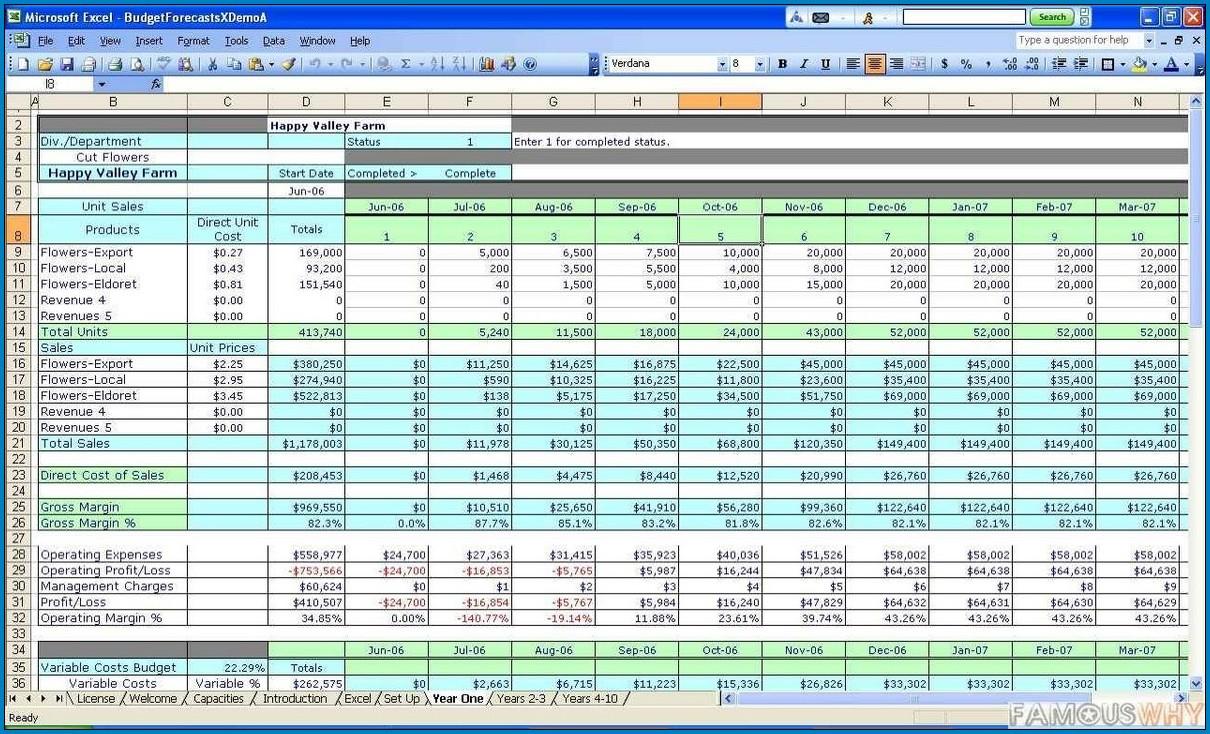 Cost Estimate Template Excel