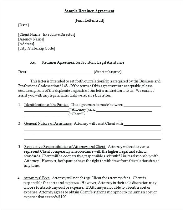 Creative Agency Retainer Agreement Template