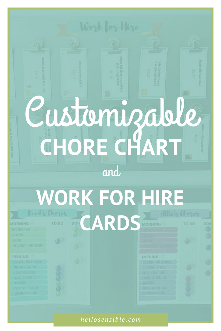 Customizable Kids Chore Chart Template