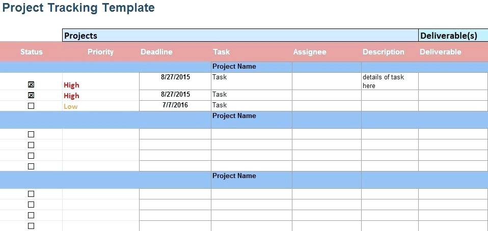 Daily Project Tracker Excel Template
