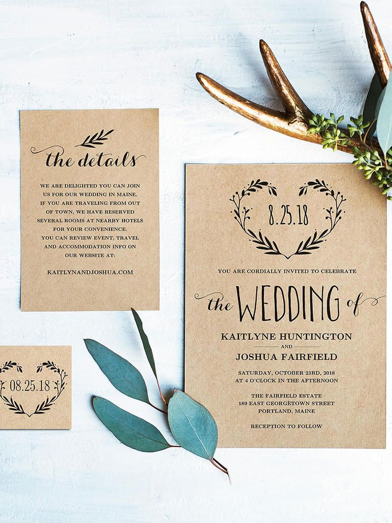 Diy Rustic Wedding Invitations Templates