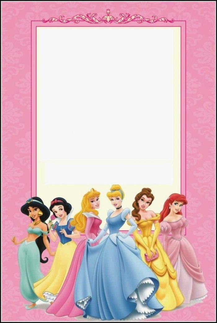Downloadable Disney Princess Invitation Template