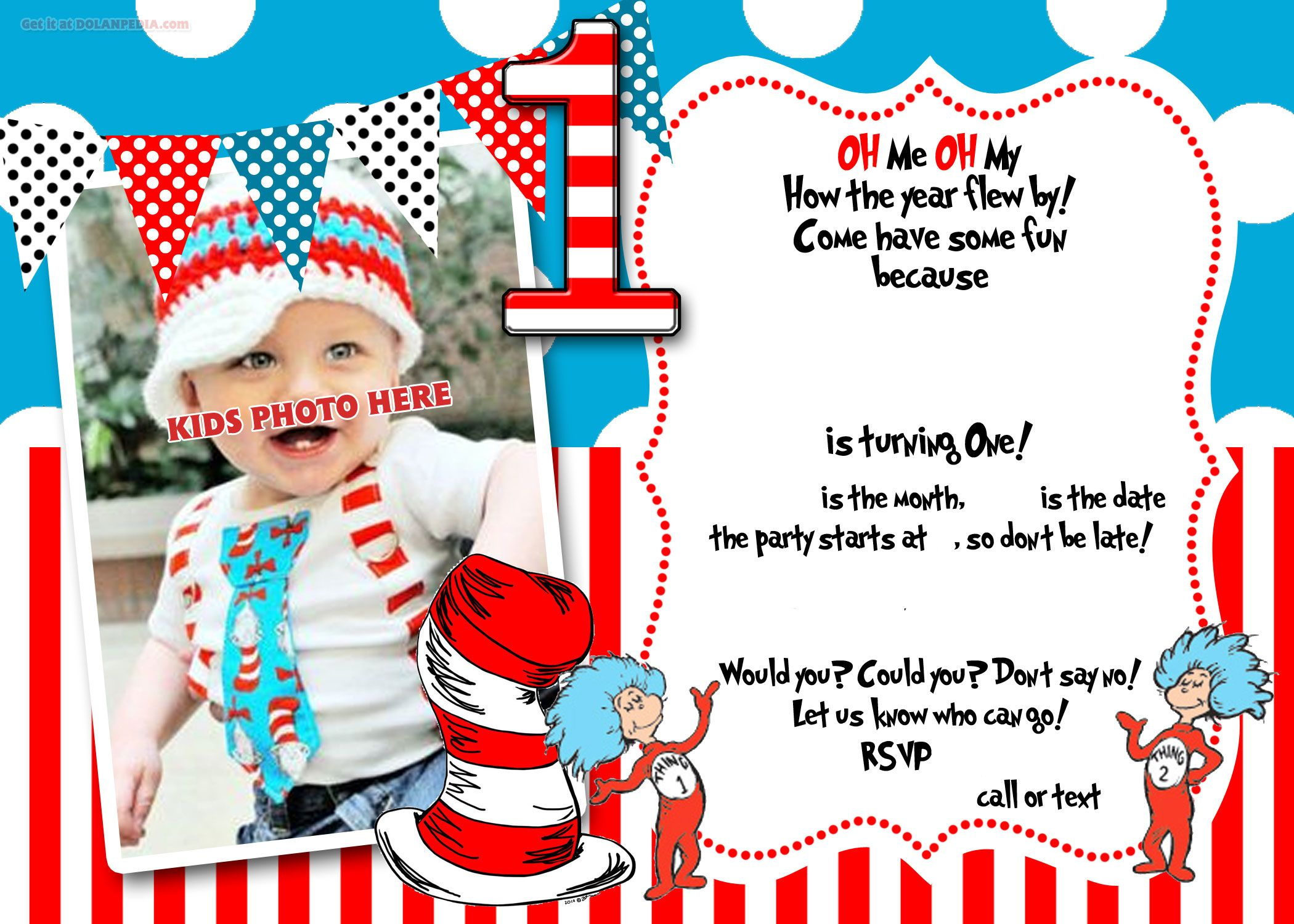 Dr Seuss Birthday Invitation Template