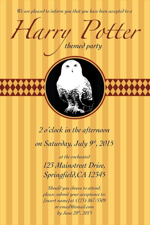 Editable Harry Potter Invitation Template