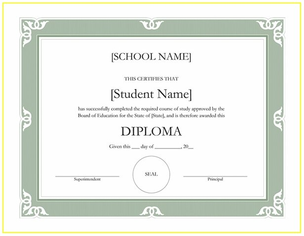 Editable Homeschool Diploma Template