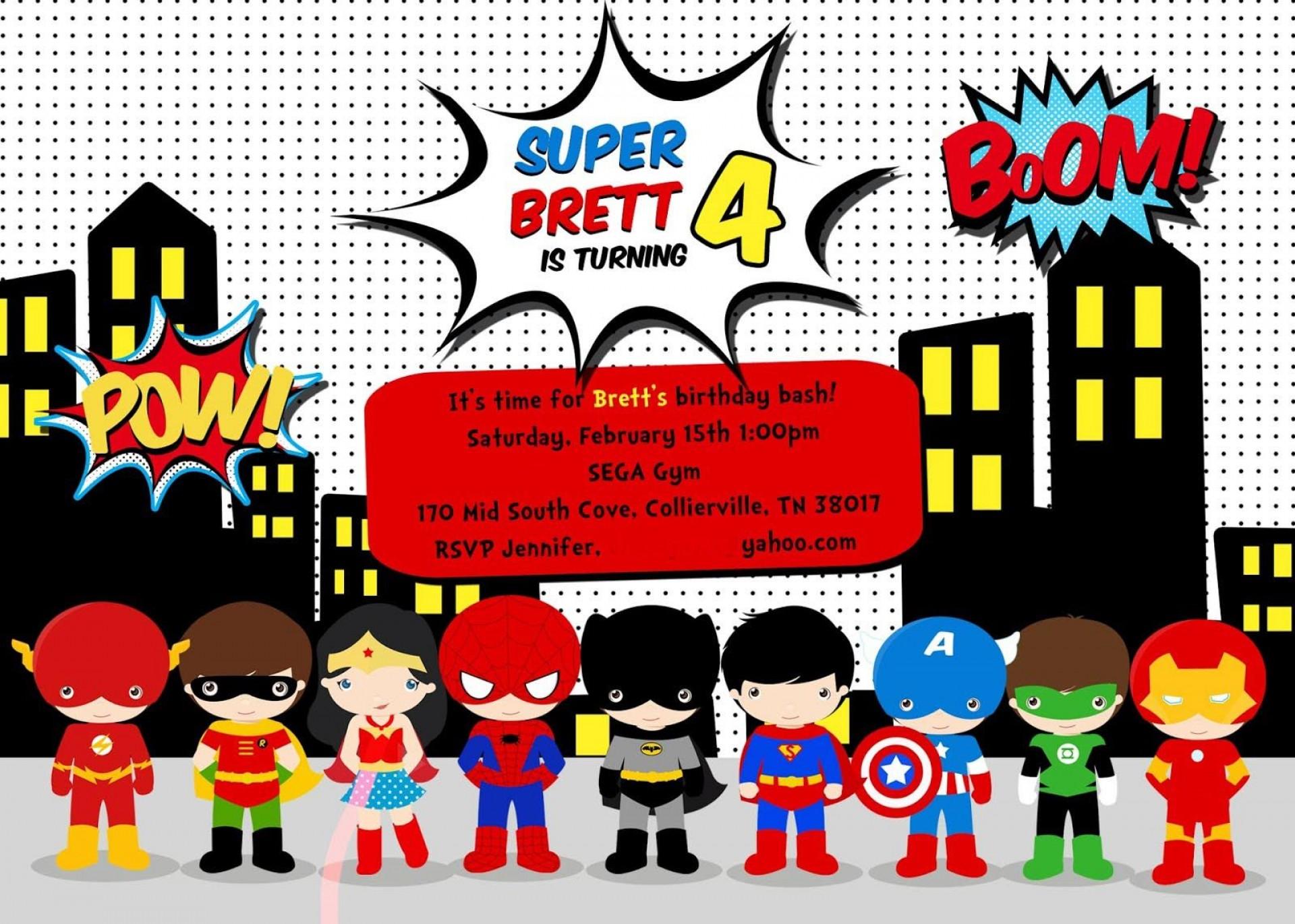 Editable Superhero Invitation Template Free