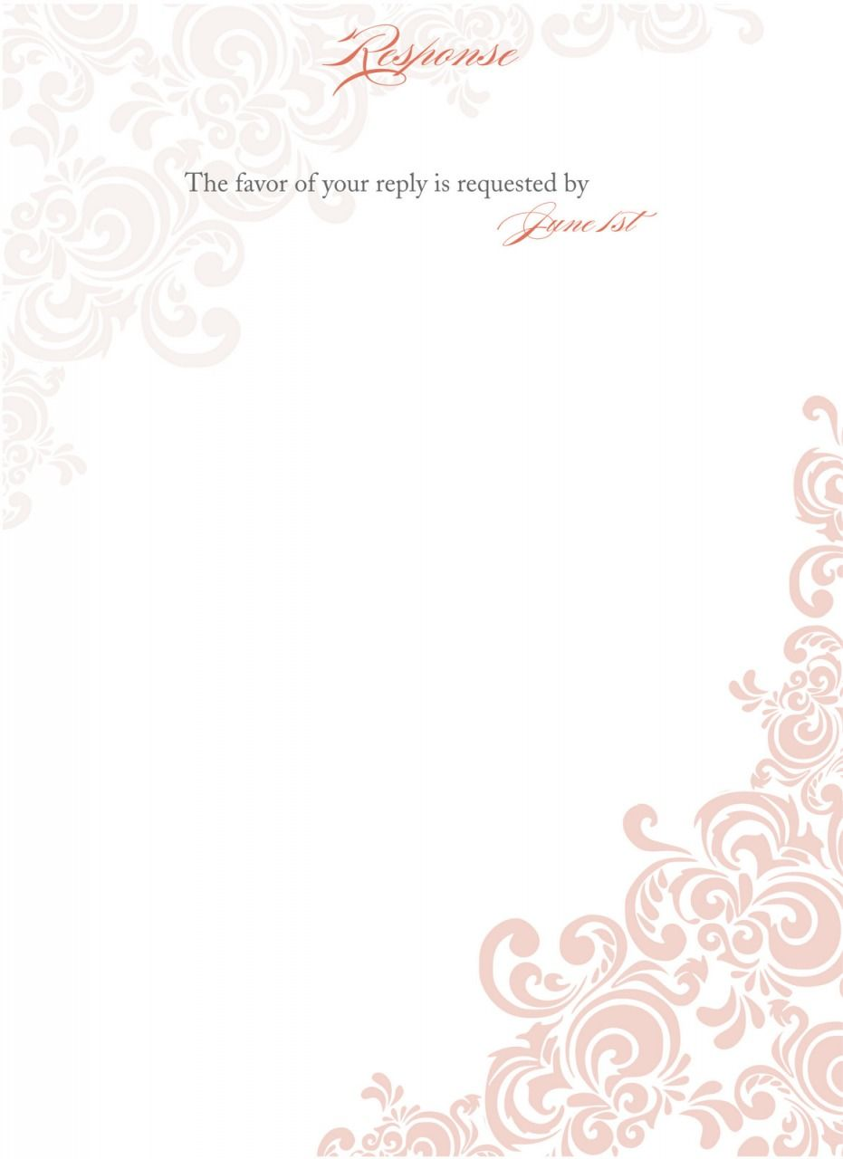 Elegant Invitation Templates Blank