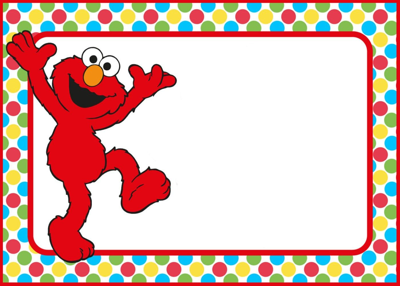 Elmo Party Invitations Template