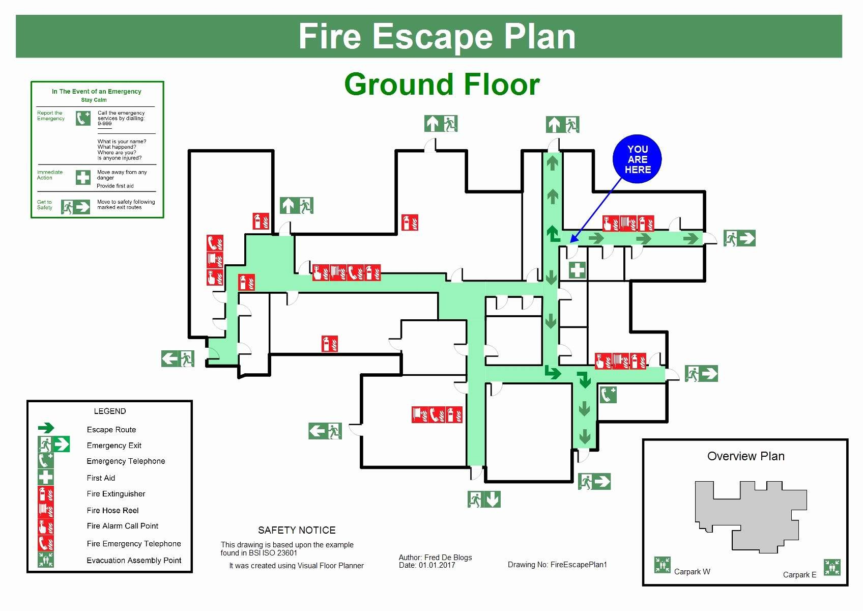 Home Emergency Evacuation Plan Template