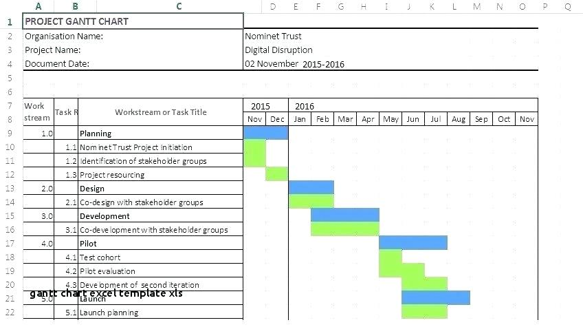 Excel Project Schedule Template Xls