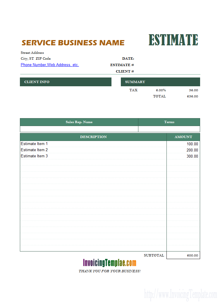 Excel Proposal Template