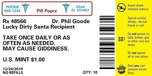 Fake Prescription Bottle Label Template
