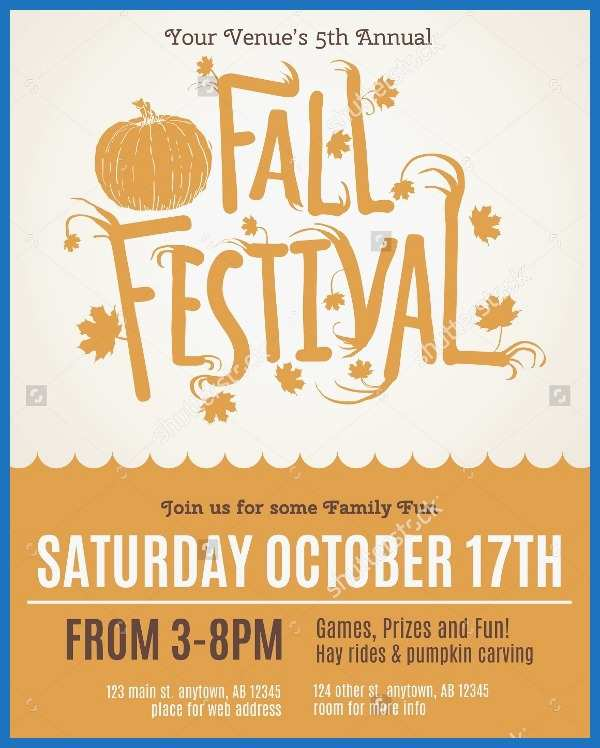 Free Printable Fall Festival Flyer Templates Good 21 Fall Flyer Templates