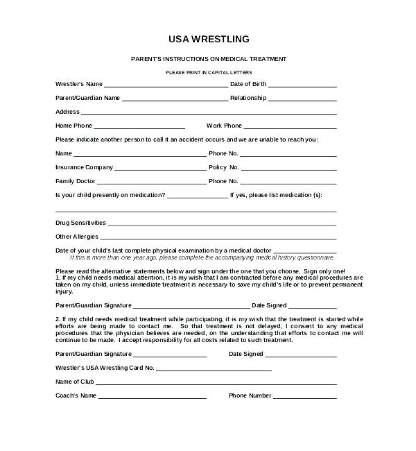 Family Camp Registration Form Template