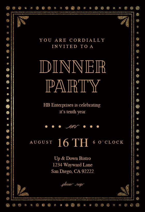 Fancy Invitation Template