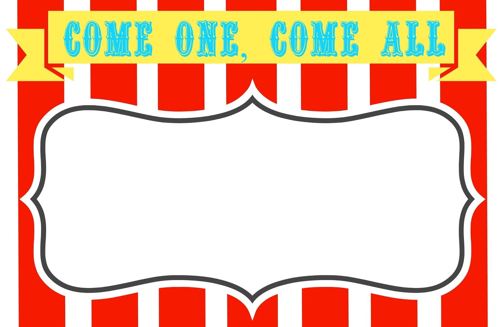 Free Blank Carnival Ticket Template
