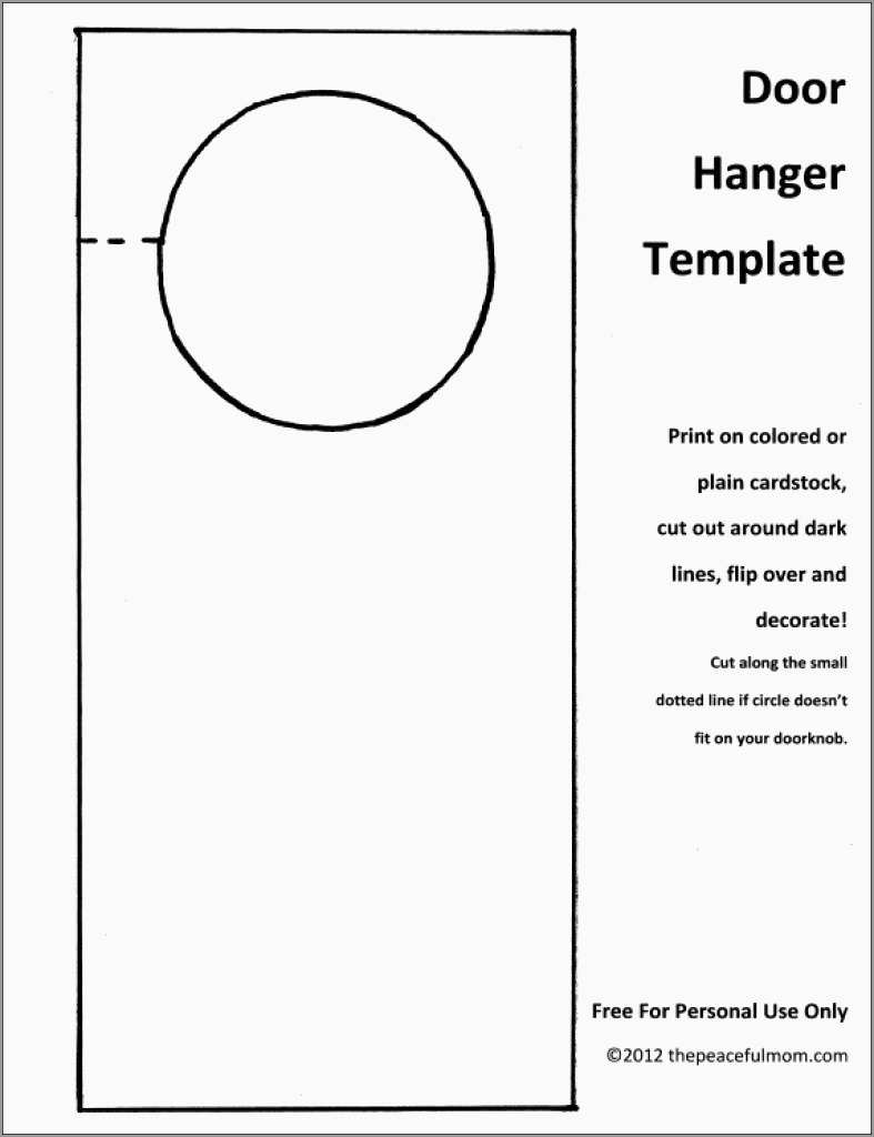 Free Door Hanger Template Publisher Good Free Door Hanger Template