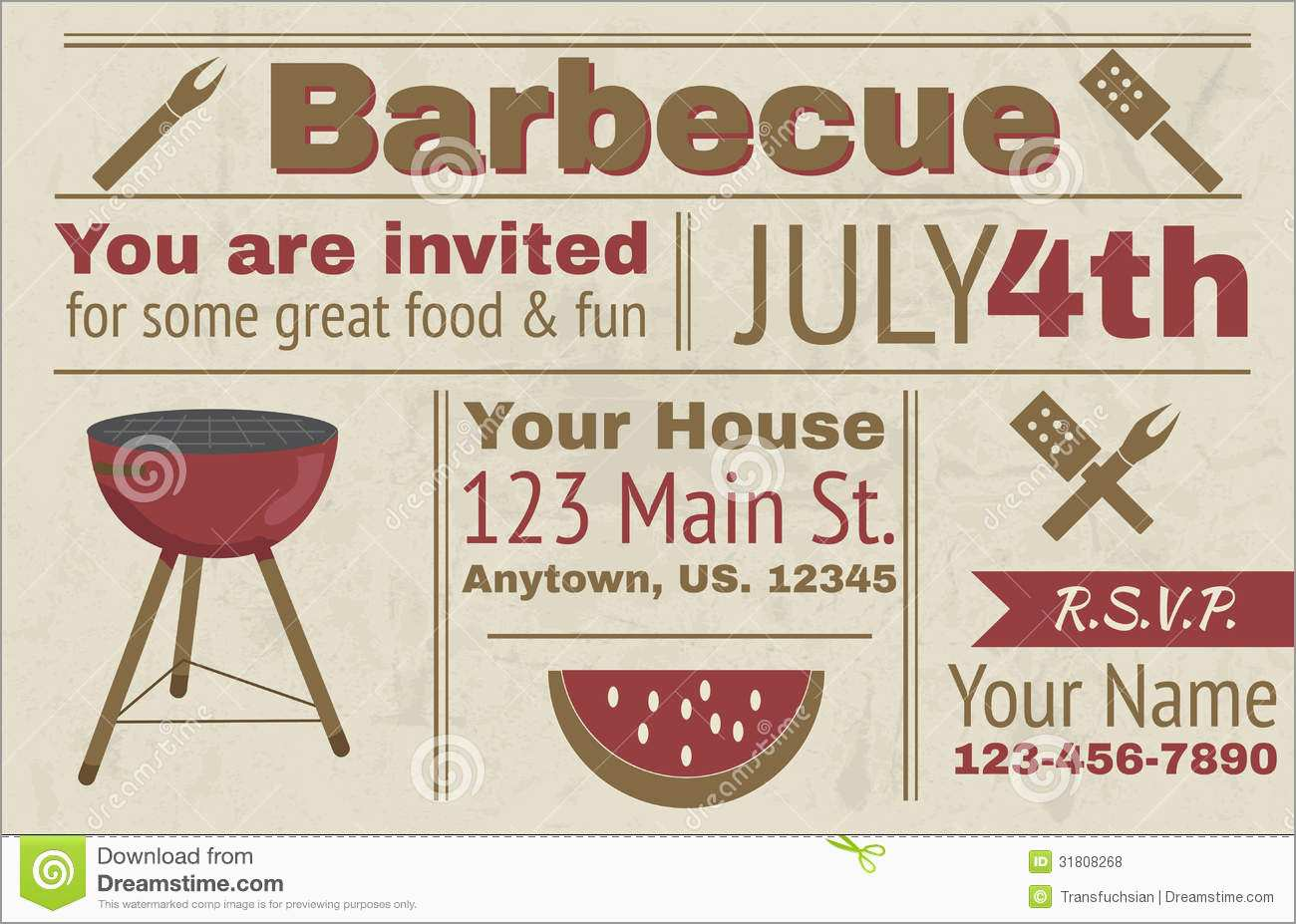 Free Downloadable Bbq Invitation Template Awesome 17 Summer Bbq Invitation Word Template Free